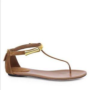 $550 Gucci Bamboo Coraline Sandals Sz 36.5